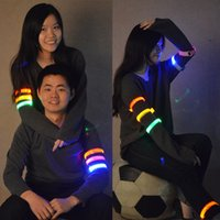 Wholesale Leg Support Sports - New LED Light Flash Glow Armbands Lighting Arm bands Fashion Leg Safety Bands for Sport Cycling Skating Christmas Party Shooting Free DHL