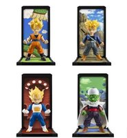 Wholesale 4pcs Japanese Anime Dragon Ball Tamashii Nations Tamashii Buddies Son Goku Vegeta Trunks Piccolo Action Figure