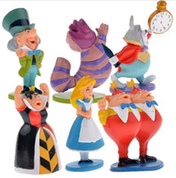 Wholesale Classic MINI ALICE IN WONDERLAND PVC Cake Toppers Figure Toy set A