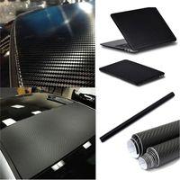 airs textured - High Quality Black x50cm D Textured Air Drain Carbon Fibre Vinyl Film Car Bike Motorcycle Sheet Wrap Sticker Decoration