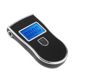 Wholesale Prefessional police digital breath alcohol tester breathalyser black AT818 blacklight blue