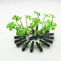 bean sprouts plant - 600PCS LJJH611 plant hairpin Lucky grass hairpin The mushroom hair clips Small bean sprouts hairpin simulation plants children hair clips