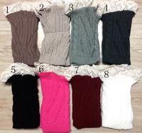 Wholesale Lace twist Knit Boot Cuff knit boot topper faux legwarmers sock tops knit leg warmers boot warmers
