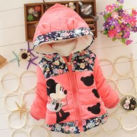 kids winter jackets - New Winter Children Jacket Minnie Hoodies children coat Girls Clothes Kids jackets Toddler Outerwear Warm Coat for girls