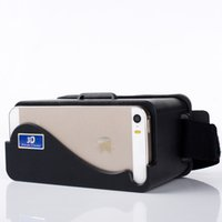 Wholesale Google Cardboard Head Mount Plastic Version D VR Virtual Reality Video Glasses For Iphone5 s c