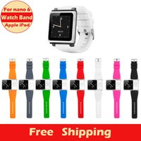 Wholesale New multi touch Collection Wrist Strap watch band for ipod nano With Retail Package Gift protective film