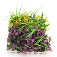 artificial lawn supplies - 2015 Hot Artificial Flowers For Wedding Decor Plastic Grass Baskets Restaurant Cafe Decorative Landscaping Lawn Supplies