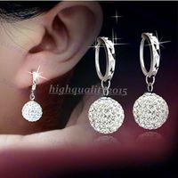 ball head bolt - 925 Sterling Silver Earrings Accessories Fashion Super Flash Shambhala Rhinestone Ball Head Bolt Earrings for Women Fine Jewelry