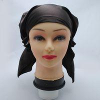 Wholesale Fashion Silky Satin Hat Night Sleep Cap Keep Hair Design For Women