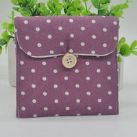 Cheap Free Shipping Brief Cotton Full Dots Sanitary Napkin Bags Sanitary Towel Storage Bag J*60CJJ0114#M6