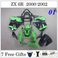 plastic injection molding - Injection Molding Fairing For Kawasaki ZX6R ZX R ZX636 Fairing Kits ABS Plastic Green Black Injection Molding