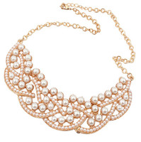 Wholesale Pearl collar necklace High quality chain necklace Popular Jewelry factory price