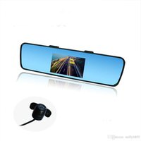 Wholesale 4 Color TFT LCD Car Rear view Mirror Monitor FR Screen Reverse Parking Camera DVD Video Input Easy use
