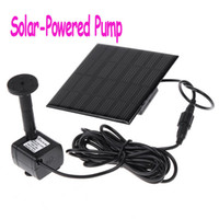 Wholesale Hot Sale Black Solar Powered Pump For Water Cycle Pond Fountain Rockery Fountain Freeshipping