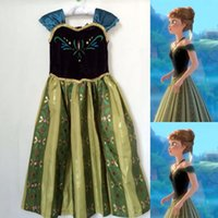 Wholesale New Arrive Frozen Dress Clothing Fashion ANNA Princess Printed Dresses Kids Clothing Children Cosplay Party Dress