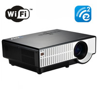Wholesale 5000 LED Lumens wireless P Home Theater Multimedia WiFi EzCast Projector Movie HDMI USB LCD LED Projector