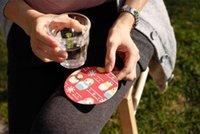 absorbent paper coaster - 1000PCS LJJJ01 Absorbent Coaster For The Bar Circular Cup Mat Environmental Protection Butterfly Paper Cup Mat Teacup mat