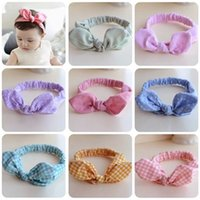 Wholesale 1 Cute Baby Toddler Sweet Girl Kids Bow Hairband Turban Knot Rabbit Headband Summer Style Headwear