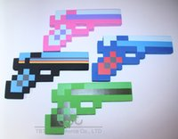 eva foam - 20 Minecraft weapons EVA Foam Gun firearm Blue Gem Stone Foam Gun Toy games cm styles mixed color