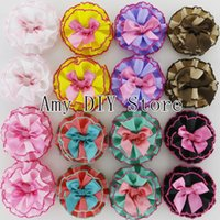 baby clothes crafts - xayakids quot Multilayers Sewing DIY Craft Hair Flowers With Ribbon Bows Baby Girls Clothing Hair Accessories HH079