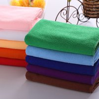 Wholesale Hot Sale Square Soft Microfiber Towel Car Cleaning Wash Clean Cloth Microfiber Care Hand Towels House Cleaning