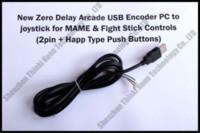 arcade for pc - Brand New Zero Delay Arcade USB Encoder PC to Joystick for MAME amp HAPP Fight Stick Controls pin Happ push buttons