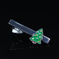 Wholesale Grand brand new men s formal wear tie clip set Christmas tree tie clips