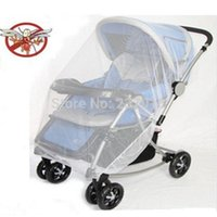 Wholesale New Lovely Cute Infants Baby Stroller Mosquito Net Buggy Pram Protector Pushchair Fly Midge Insect Bug Cover Sizes