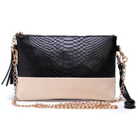 bag factory messenger - Factory special bag new European and American crocodile pattern chain shoulder messenger bag holding a dinner party handbags