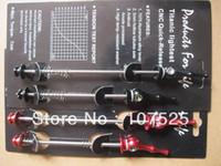 alloy skewers - Ti skewers one pair Mountain ROAD MTB bike Quick Release skewers Bicycle Alloy CNC Titanium wheel skewers