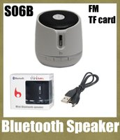 Wholesale portable wireless mini bluetooth speaker S06B usb speaker box with fm radio sd card reader speaker subwoofer amplifier music speaker MIS008