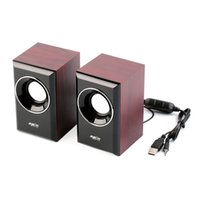 Wholesale Classic Solid Wood Desktop Stereo Speaker for Computer Tablet Laptop PC