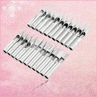 Wholesale 22 tattoo supply silver tone stainless steel nozzle tips for needle tube tattoo permanent makeup tips EN1608