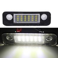 Wholesale 2 LED SMD License Plate Light No Error Code For FORD Focus MK2 Hatchback Facelifted MK3 Fiesta MK6 Mondeo MK4 S Max MK1 C