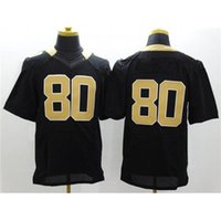 Cheap Cheap Hot Sale Elite Jerseys #80 Black American Football Apparels Comfortable Football Player Jerseys Authentic Football Uniforms Fast Ship