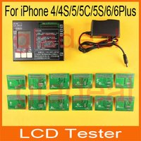 for iPhone 4,4S,5,5C,5S machine - DHL Free Latest LCD Tester for iPhone S C S Plus Touch Screen Display Digitizer Repair Separator Machine Tool Kit Set