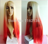 azalea size - 2016 New Colorful long Straight red ombre color Wig Synthetic Lace Front Wig Women Party Cosplay Hair Wig Iggy Azalea wig
