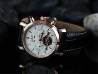 Wholesale Fashion Men Leather Watch Golden Number Mechanical Dive Mens Date Automatic Watches Luxury Sport Jaragar Watch