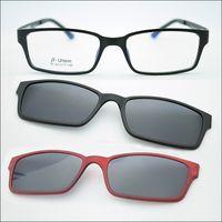 Wholesale Ultra light Tungsten Titanium Glasses Frame Belt Magnet Clip Sunglasses Myopia Functional Glasses Polarized JKK