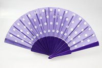 plastic hand fan - Plastic hand fans Spanish folding fans Bridal accessories Advertising promotional fans Handmade inches multi colors fabric with spots