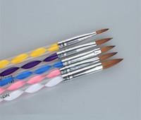Wholesale Ways Set Acrylic Gel UV Brushes Pen Design Painting Drawing Tools Cuticle Pusher Tips Nail Art Manicure