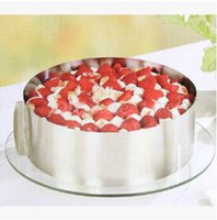 bake ring - 200pcs CCA3182 Stainless Steel Size Adjustable Circle Mousse Ring cm Retractable Cake Mould Mold Baking Tool Set Bakeware Tools