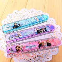 Wholesale New Arrival Kids School Stationery Hot Sale Children Cartoon Folding Rulers Frozen Elsa Anna Olaf Princess Child cm Dividing Ruler K1963