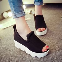 korea fashion - new Summer South Korea increased elevator platform sandals wedges thick bottom lazy fashion shoes for women s shoes