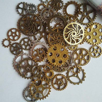 bronze charms - Gold silver vintage bronze Mix retro steampunk gears jewelry charms pendant steampunk gears for DIY necklace