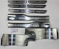 acier inoxydable de haute qualité à l'intérieur plaque de protection externe / Sill porte Pour 2013 -2015 Mitsubishi Outlander Samurai