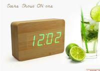 antique looking clocks - 2013 good look Rectangular Imitation Wooden Clock Desktop LED Temperature Time transform display YK