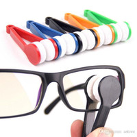 Wholesale Hot Sales Modern Mini Sunglasses Eyeglass Glasses Spectacles Microfiber Cleaner Brush Colourful Plastic Handle T207
