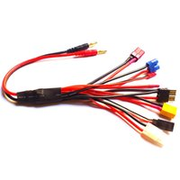 Wholesale Lipo Battery Balance RC Multifunctional Charger Cable mm Banana Adapter Plugs Connector