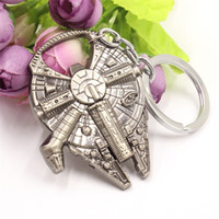 Wholesale New Fashion Star Wars Millennium keychain Spaceship Logo Falcon Alloy pendant Key Chain keyring for fans movie jewelry